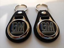 GENERAL MOTORS KEYCHAIN 2 PACK GM FOB LOGO
