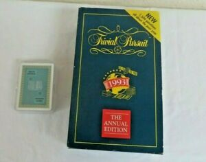 ANNUAL EDITION 1993 TRIVIAL PURSUIT & A PACK OF LOTERIA NACIONAL PLAYING CARDS