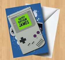 Personalised Retro Video Games/Gameboy Inspired Birthday Card