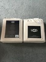 NeW UGG Home Collection Full Sheet Set Hayden, Snow Color, 100% Cotton