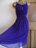 WALLIS ❤️  Size 14 Cadbury Purple Floaty dress wedding occasion party Summer