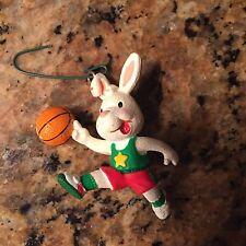 Small Rabbit Basketball Christmas Ornament