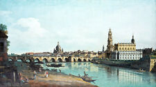 Dresden seen from the Right Bank of the Elbe by Canaletto 75cm x 42cm Canvas