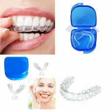 2pc FDA Dental Thermoforming Teeth Whitening Tray Mouth Guards  Blue Travel Case