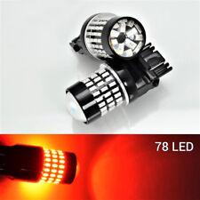 Rear Turn Signal 78 SMD LED Bulb Red T25 3156 3456 B1 #1 For Honda Chevrolet