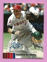 2020 Topps Stadium Club Tommy LaStella Auto #ATLS Los Angeles Angels