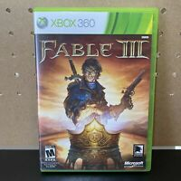 Fable 3 III (Microsoft Xbox 360, 2010) - Complete CIB Game and case played once