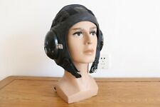 Air Force aviator Fighter Pilot Summer Flight Helmet,Mesh black leather hat
