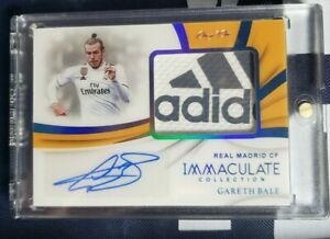 2018-19 IMMACULATE GARETH BALE PREMIUM PATCH AUTO ONE OF ONE 1/1 MATCH WORN RM