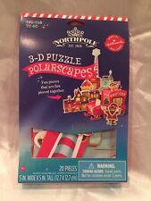 "New Hallmark Northpole Kids 3-D Polarscapes Puzzle Kit - ""Sno-Coa To Go"""