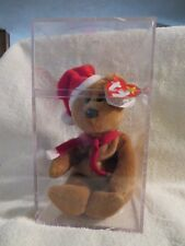 TY - CHRISTMAS BEAR IN PLEXIGLASS CASE - BIRTH DATE 12-25-96 - NEW WITH TAG