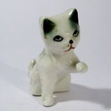 Rare Vintage Cute German Glazed Porcelain Sad Cat Figure/Figurine