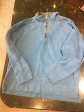 Mens Fat Face Vintage Sweatshirt with 1/4 zip. Large. Blue