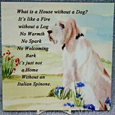 More details for italian spinone dog hardboard plaque tile watercolour print sandra coen artist