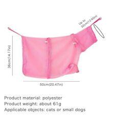 Cat Shower Net Bag Cat Grooming Bathing Bag Adjustable Cat Washing Bag Clean Ear