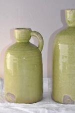 Deco Vase Krug S shabby style Grün craquele Keramik Senfgrün Grün Brynxz