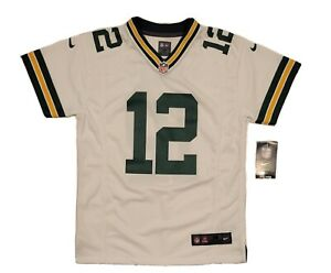 Youth's Nike AARON RODGERS 12 Jersey MEDIUM (10/12) White Z1B7N2P9 FREE SHIPPING