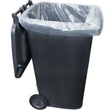 More details for 240l bin bags black heavy duty wheelie refuse sacks strong liners rubbish bags