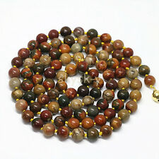 AAA Natural 12mm Multicolor Picasso Jasper Round Gems Beads Necklaces 36 inches