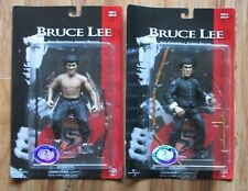 "Bruce Lee Sideshow Toy 1998 7"" Action Figure Set of Two MOC"