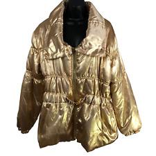 Ashley Stewart Gold Puffer Coat Women's Size 2X