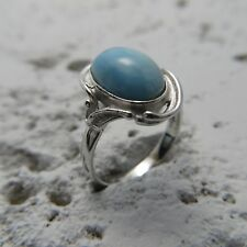 Size 6, Size L 1/2, Size 52, Blue LARIMAR Ring in 925 STERLING SILVER #0254