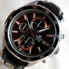 ANCIEN CHRONOMETRE CASIO EDIFICE-5345 A MULTI CADRAN HOMME A STAR STOP T/B Etat