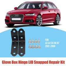 GLOVE BOX HINGE FOR AUDI A3 A4 S4 B6 B7 LID REPAIR KIT 2001-2008 SEAT BLACK