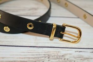 COUNTRY ROAD Brand Black Leather Belt Size XS #BEL3
