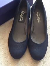 Russell Bromley Stuart Weitzman Navy Print Suede Shoes UK 6 US 8 Sojourn