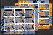 CEPT, Europa 2002 Makedonien, Mi 254/255 im Kleinbogen, gestempelt, KW 25,00€