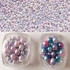 3D Dreamlike Imitation Pearls Nail Art Decorations Phone Shell Frame Designs DIY