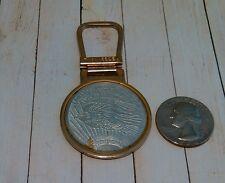 Vintage Hit USA Faux Twenty Dollar Coin Keychain Fob Pat.Pending Rare