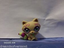 Littlest Pet Shop Brown Postcard Raccoon with Purple and Green Tail #1354