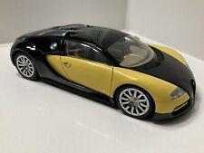 AUTOart 1:18 Scale Diecast Black / Yellow Bugatti Veyron 16.4 Rare Color Combo!