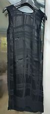 NEXT BNWOT premium black dress satin silk burn out effect fabric 6 RRP £89.99