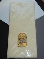 Vintage New Old Stock Hallmark Water Resistant Table Cover 54 x 102 Ivory