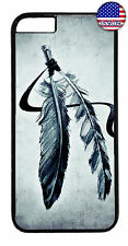 Indian Feathers Dreamcatcher Rubber Case Cover iPhone 11 Pro Max Xs XR 8 Plus 7