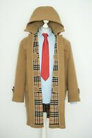 Mens Aunthentic Burberry London Wool Jacket Nova Check Duffle Coat Size 52