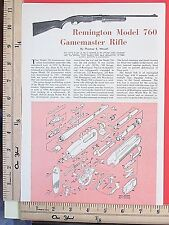 1961 REMINGTON MODEL 760 GAMEMASTER RIFLE 2-Page EXPLODED VIEWS Article 6995