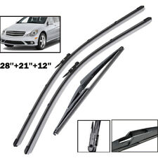 3Pcs/Set Front Rear Wiper Blades Fit For Benz R GL M ML Class W251 W164 X164