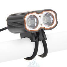 6000Lm 2 * CREE T6 LED Ciclismo Linterna antorcha Faro Bicicleta Con Usb