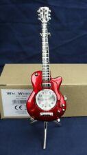 RED GUITAR Widdop miniature clock BNWB