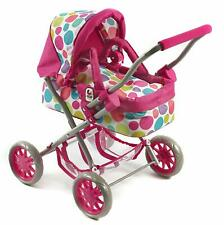 Bayer Design Doll Pram Trendy Smarty Pushchair Buggy Small Mini Pink - New