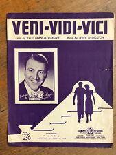 VENI VIDI VICI   BOB GIBSON 1954 Words & Music Sheet