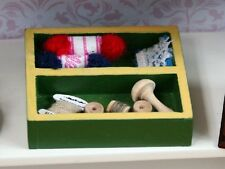 Needlework Tray, Doll House Miniature. Sewing Room. Accessory. 1.12th Scale
