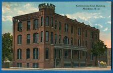 Commercial Club Building, Aberdeen, South Dakota - Early Postcard