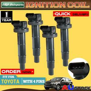 4Pcs for Toyota Camry RAV4 Tarago Avensis 1AZ-FE 2AZ-FE 2.0L 2.4L Ignition Coil