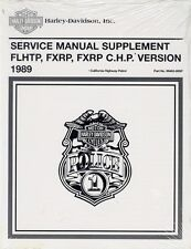 1989 Harley FLHTP FXRP/C.H.P. Police Service Repair Manual Supplement 99483-89SP