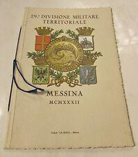 Calendario 29 divisione militare territoriale Messina anno 1931
